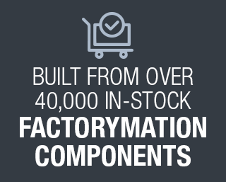 Built from over 40,000 instock FactoryMation components