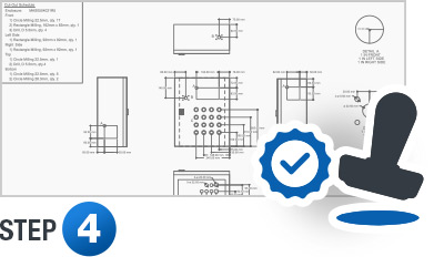 Once you approve the quote and place your sales order, we take your specifications and turn them into a full layout drawing and electrical schematic. These are then submitted for your approval.