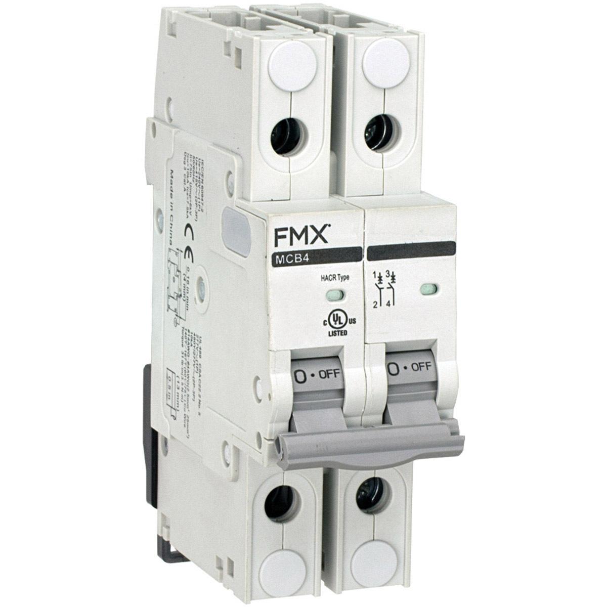 Mini Circuit Breaker UL 489 40A FMX MCB4-L2D-2P-D40 2-Pole