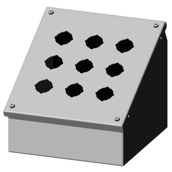Sce 9pba Enclosure 9 Hole 3x3 9 5 X 8 5 X 7 88