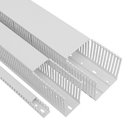 FMX White Narrow Slot Wire Duct